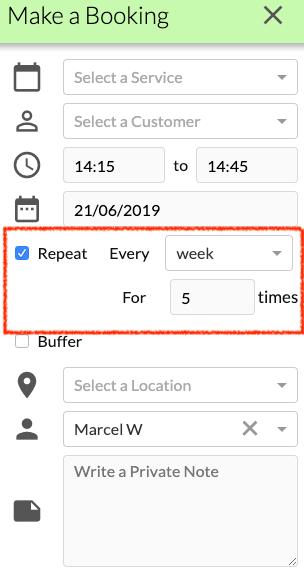 repeat booking