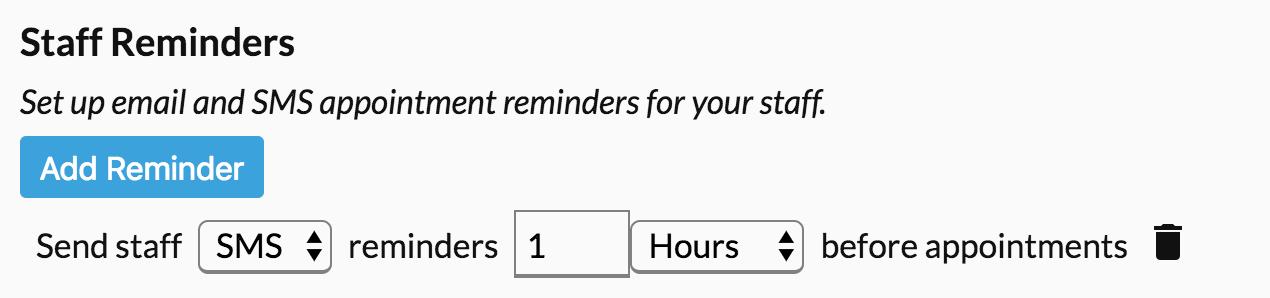 Staff reminder panel