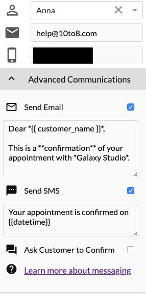 Message panel