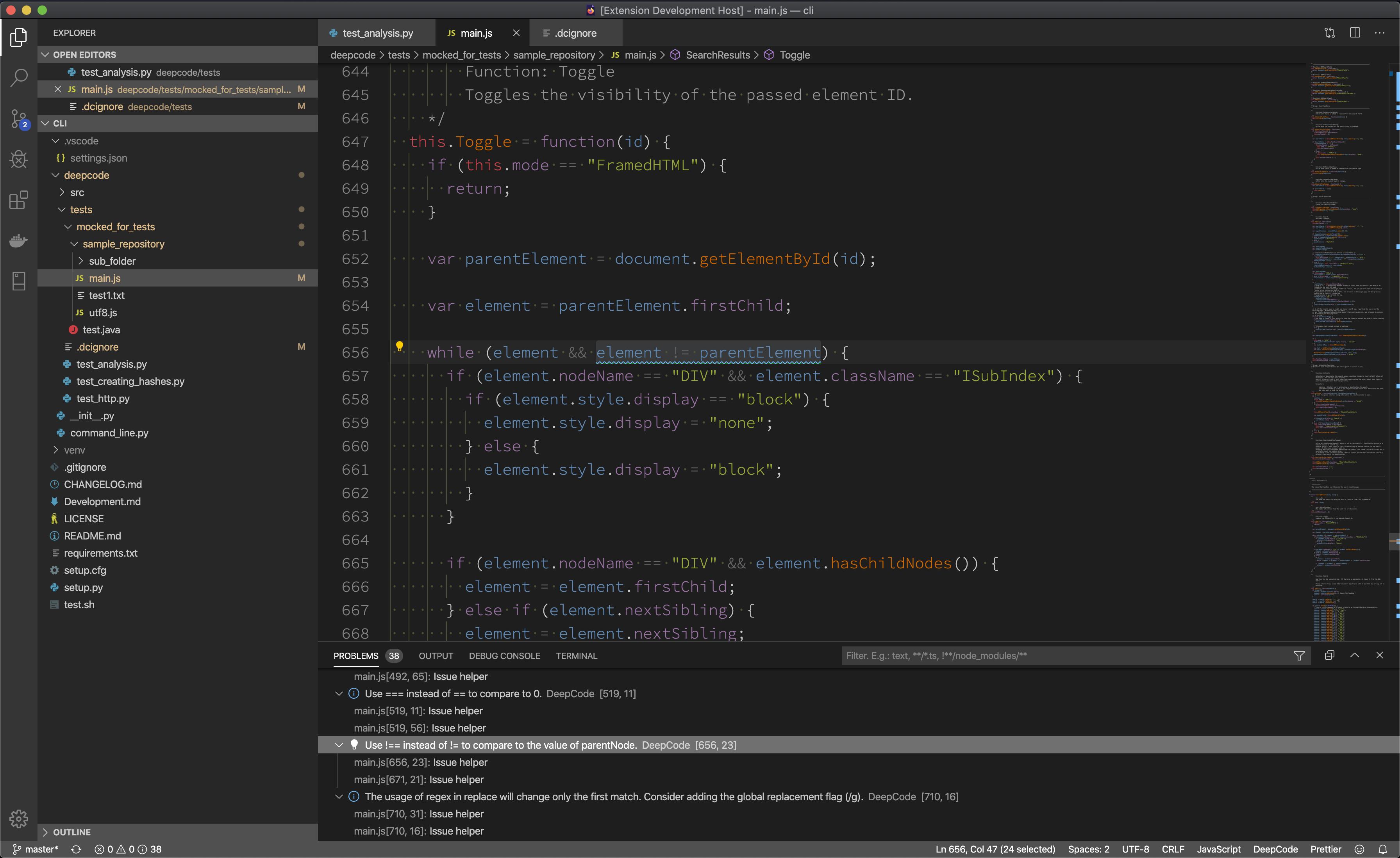 DeepCode Visual Studio Code plugin