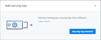 Using a security key