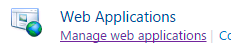SharePoint Manage Web Applications