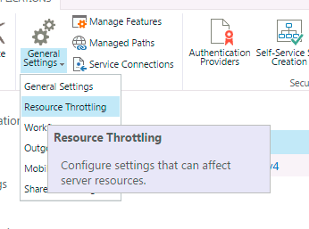 SharePoint Ressource Throttling