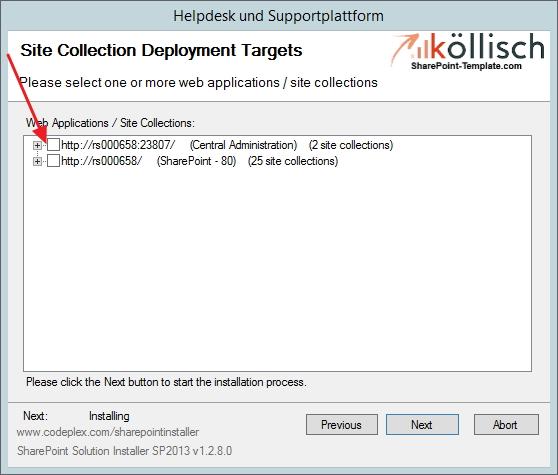 Helpdesk als SharePoint Webapplication