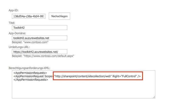 SharePoint online App SiteCollection registrieren