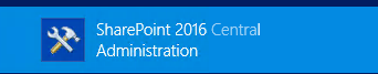 SharePoint 2016 Zentraladministration