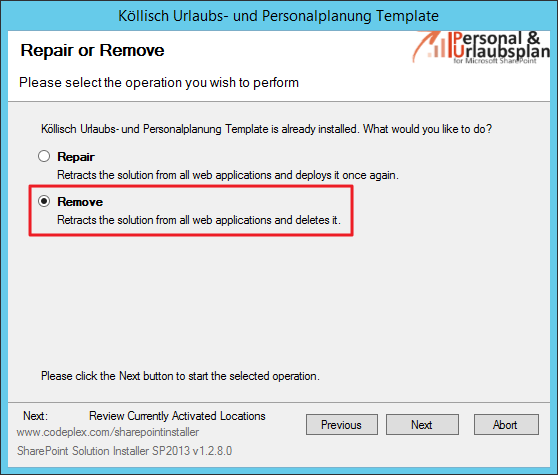 Remove Template SharePoint