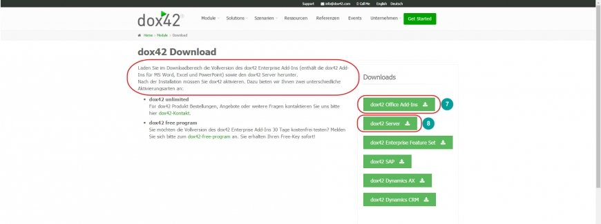 Beginn des Downloads von dox42