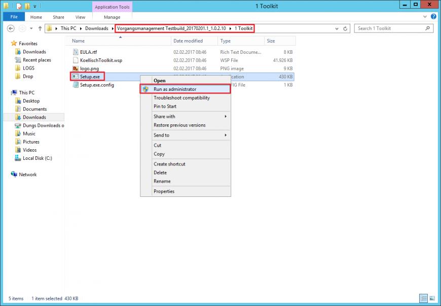Setup koellisch-toolkit für SharePoint