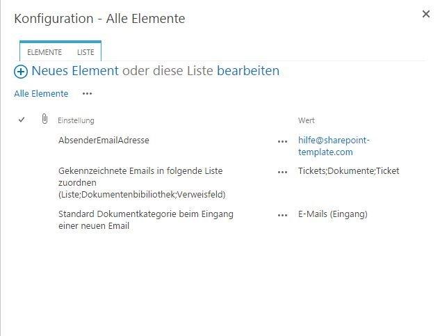 SharePoint E-Mail-Absender