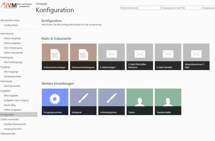 Konfiguration Team Collaboration