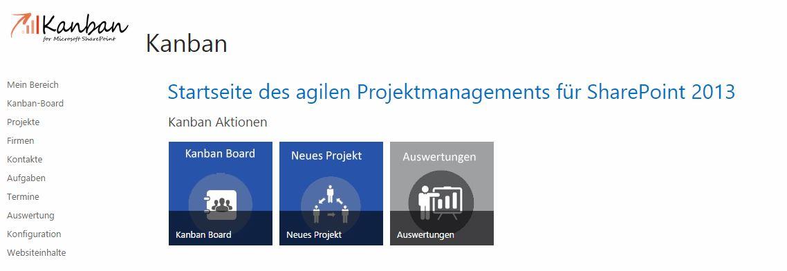 Projektmanagement Startseite