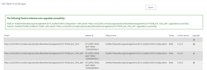 Bewerbermanagement update erfolgreich SharePoint