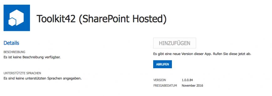 SharePoint Online Toolkit42 Update