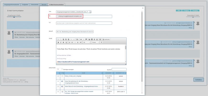 E-Mail-Kommunikation E-Mail-Client antworten in SharePoint
