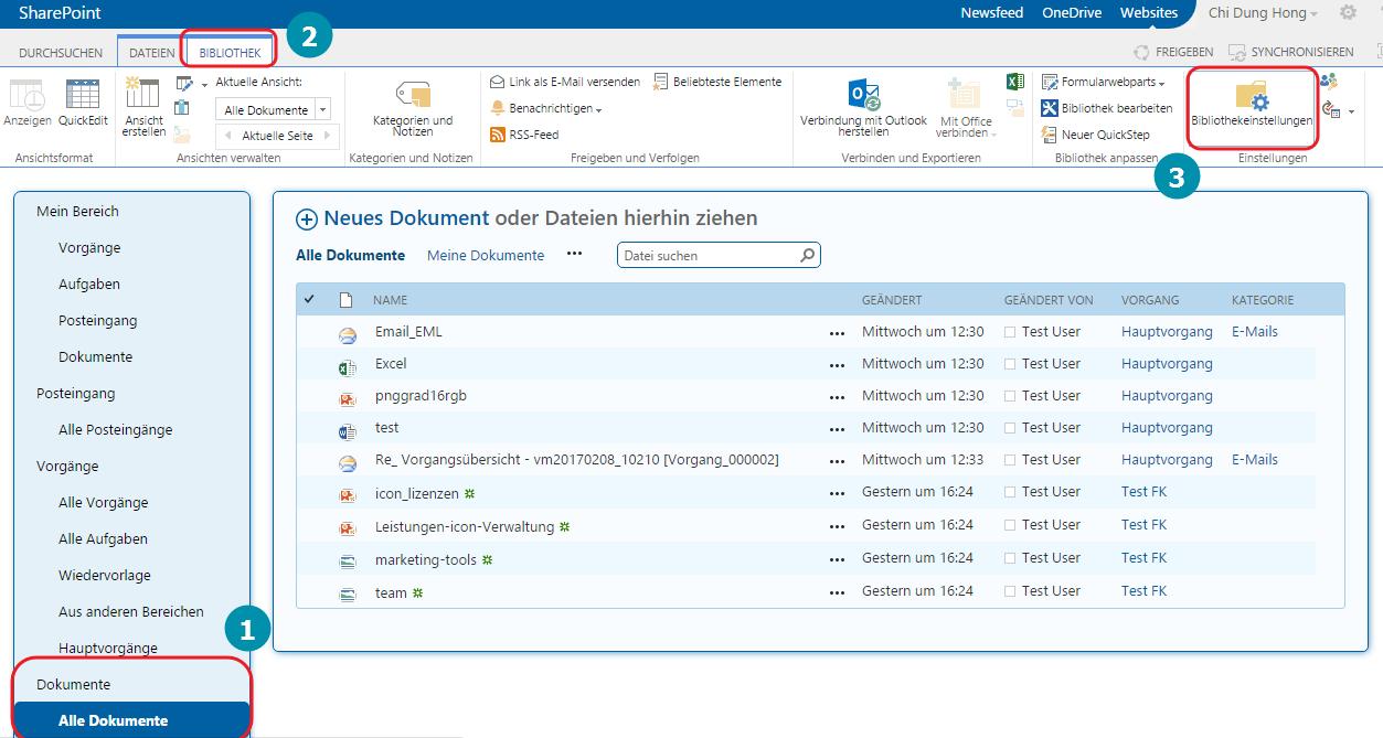 Dokumentenbibliothek VM SharePoint