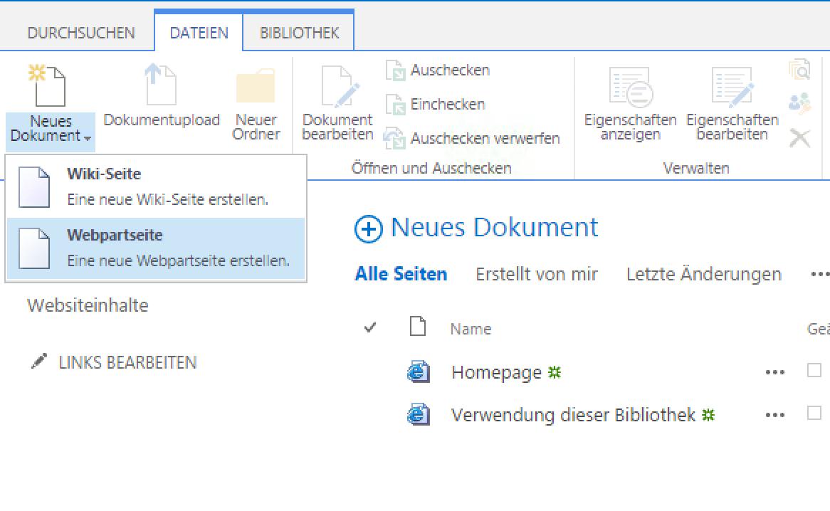 SharePoint create new WebPartPage