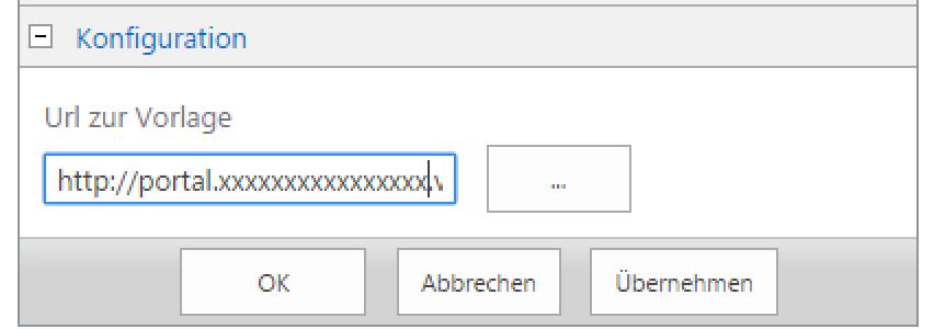 SharePoint dox42 Template Url in WebPart