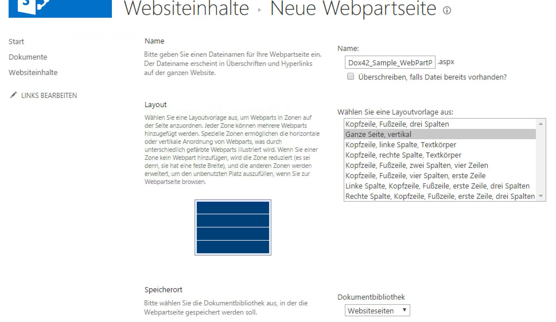 SharePoint create WebPartPage