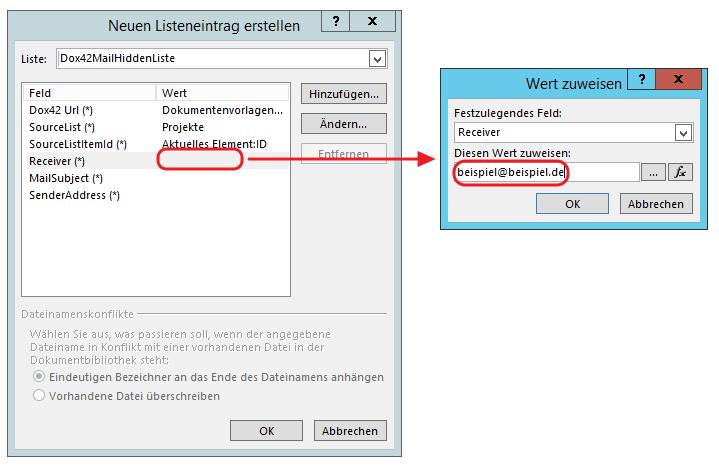 SharePoint Designer Receiver