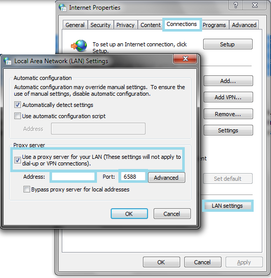 Setting up a proxy server on windows my private network - Private internet access port ...