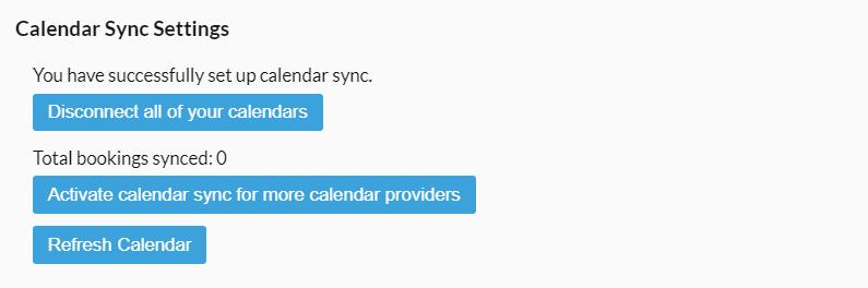 More calendar sync settings