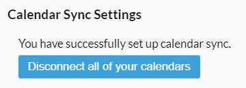 Disconnect calendars