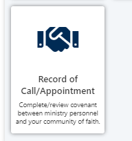 Record of Call/Appointment button
