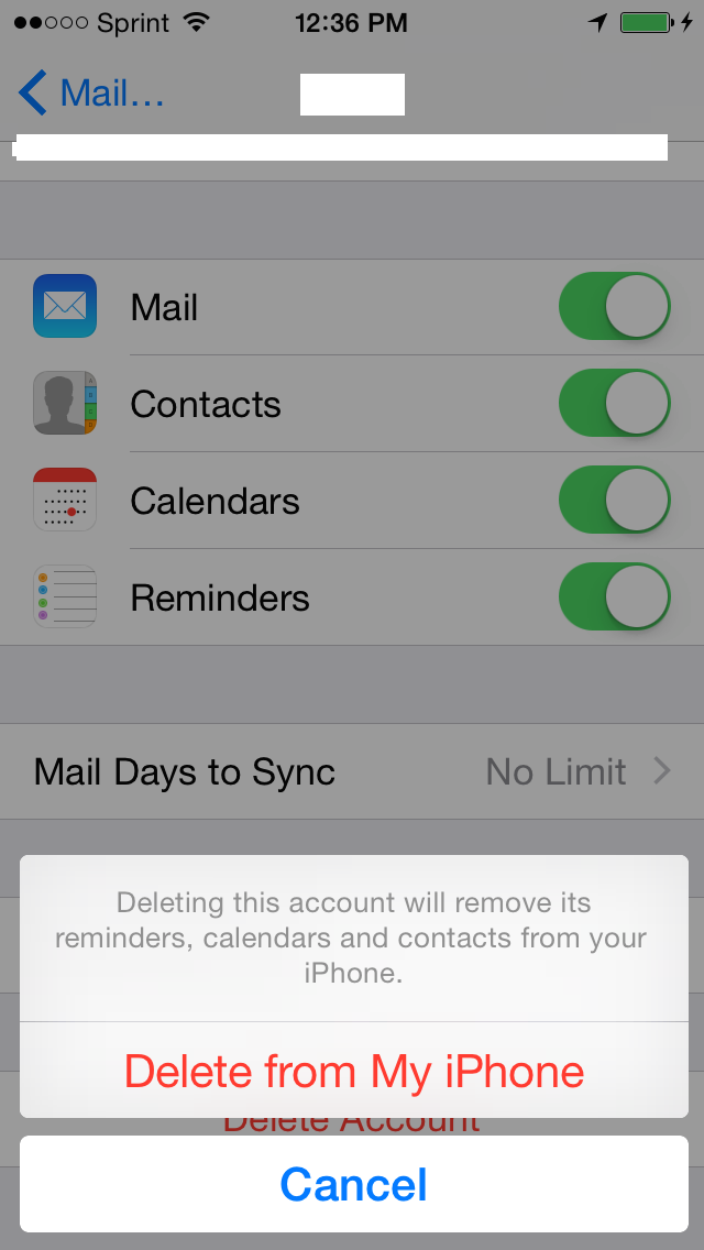 Removing Your Hosted Exchange Account From An iPhone