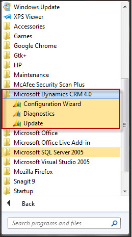 STEP 2 - Configuring the CRM 4 0 Plug-In Tool