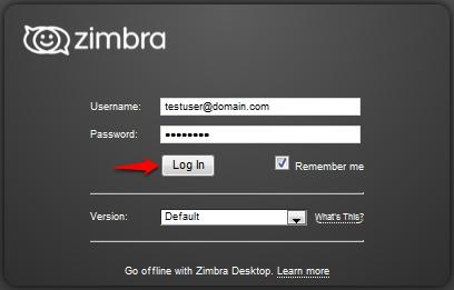 Change the Default Login for the Zimbra Web Client  : CloudPlus