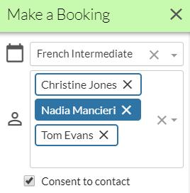 multi customer booking