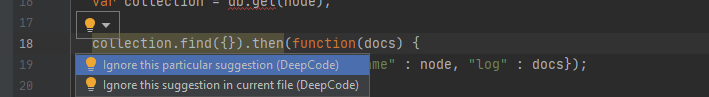 Ignore suggestion in editor decoration in intelliJ IDE