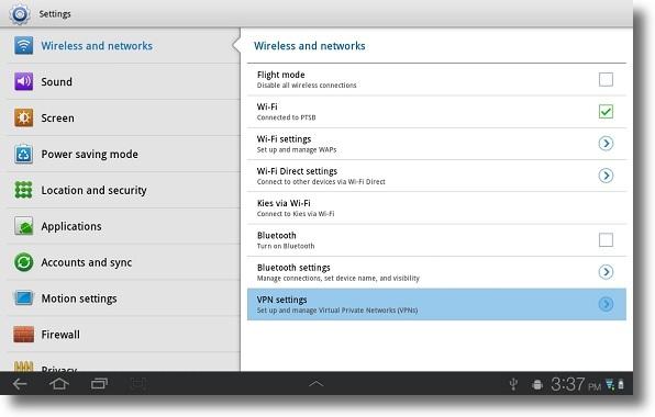 PPTP VPN setup for Android 3.2 (Honeycomb) : Global ...