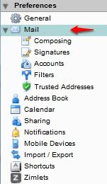Setting an Automatic Away Message using the Zimbra Web Console :