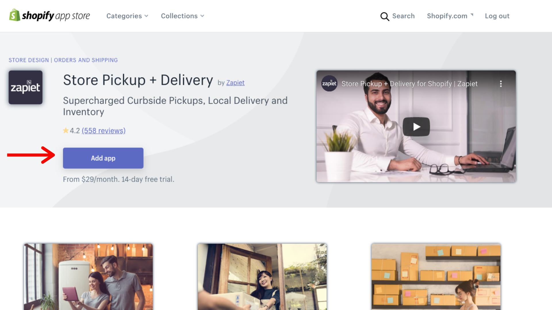 shopify express and store pickup and delivery