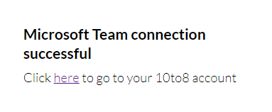 MS Teams connected