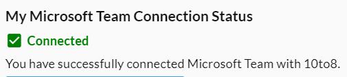 Microsoft teams connection status