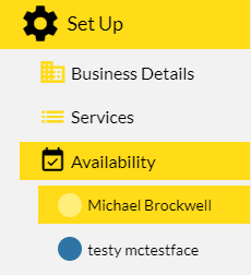 Select yourself from the list of staff and you will be able to edit your own availability.