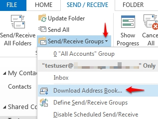 how to download the offline address book knowledgebase
