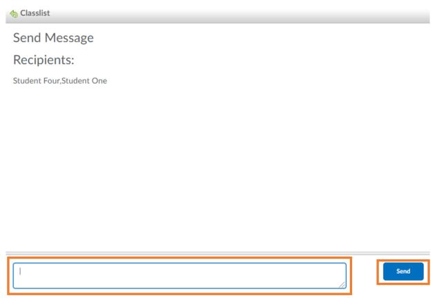 Message text box