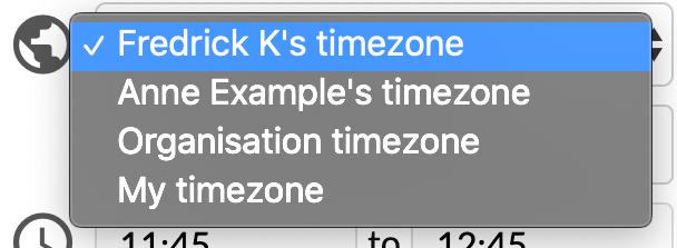 Customer timezone