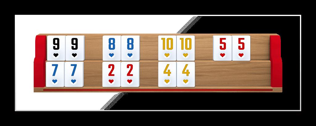 Sieben Paare Gewinnhand