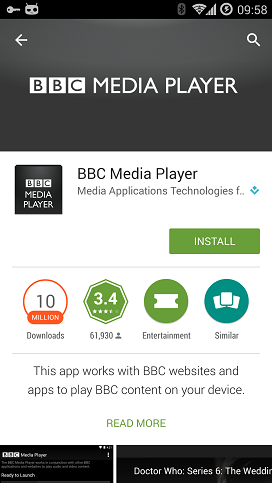 Android iplayer media player