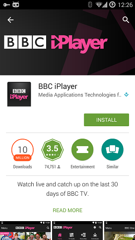 Android UK Store apps