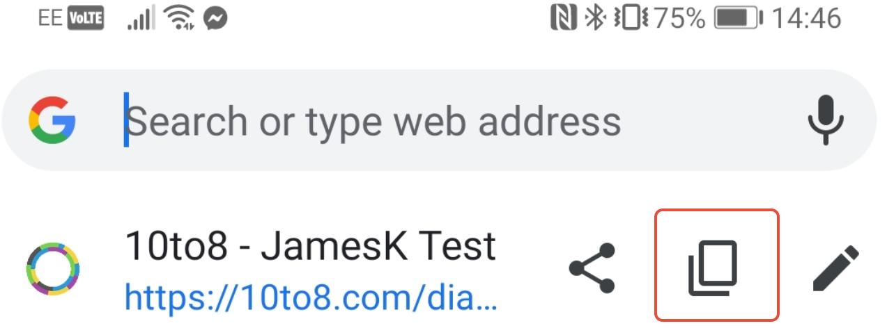 Chrome URL copy link