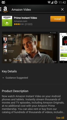Amazon video app download prompt