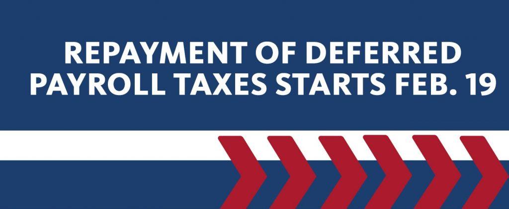 Payroll tax repayment story art
