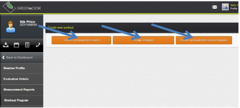 creating a program from scratch greenedesk software