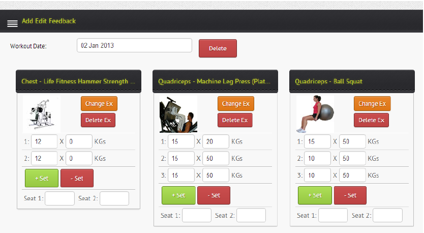 Tracking Resistance Training Results : GreeneDesk Software